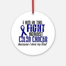 In The Fight Colon Cancer Ornament (Round)