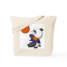 Panda play basketball Tote Bag