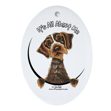 WH Pointing Griffon IAAM Ornament (Oval)