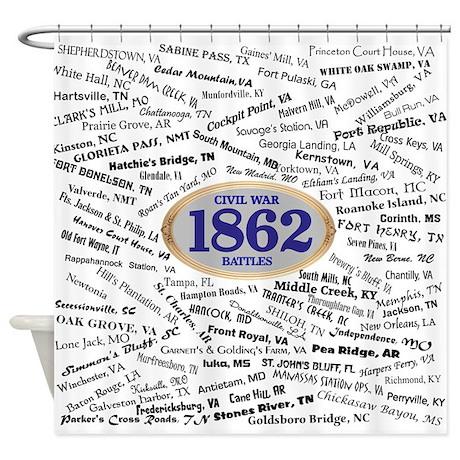 1862 Civil War Battles Shower Curtain