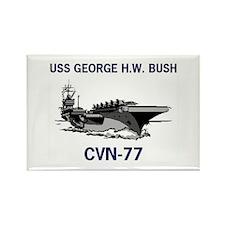 USS BUSH Rectangle Magnet (10 pack)