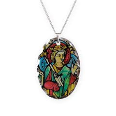 Stained Glass Queen Necklace