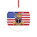 U.S.A. Rhodesia Flag Ornament (Round)