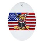 U.S.A. Rhodesia Flag Ornament (Oval)