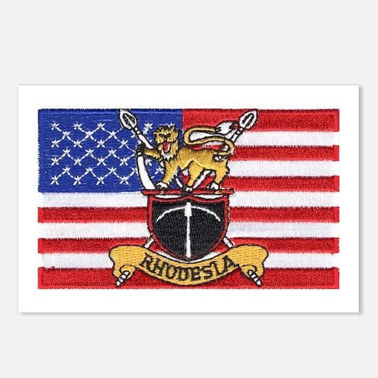 U.S.A. Rhodesia Flag Postcards (Package of 8)
