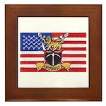 U.S.A. Rhodesia Flag Framed Tile