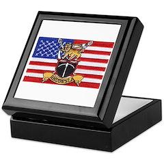 U.S.A. Rhodesia Flag Keepsake Box