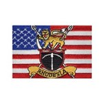 U.S.A. Rhodesia Flag Rectangle Magnet (10 pack)
