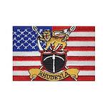 U.S.A. Rhodesia Flag Rectangle Magnet