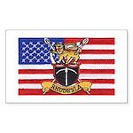 U.S.A. Rhodesia Flag Sticker (Rectangle 10 pk)