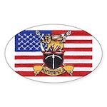 U.S.A. Rhodesia Flag Sticker (Oval 50 pk)