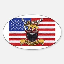 U.S.A. Rhodesia Flag Sticker (Oval)