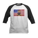 U.S.A. Rhodesia Flag Kids Baseball Jersey