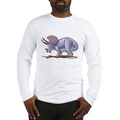 Triceratops Dinosaur Long Sleeve T-Shirt