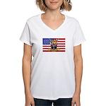 U.S.A. Rhodesia Flag Women's V-Neck T-Shirt