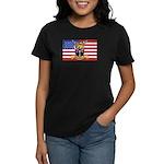 U.S.A. Rhodesia Flag Women's Dark T-Shirt
