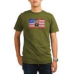 U.S.A. Rhodesia Flag Organic Men's T-Shirt (dark)