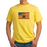 U.S.A. Rhodesia Flag Yellow T-Shirt