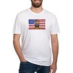 U.S.A. Rhodesia Flag Fitted T-Shirt