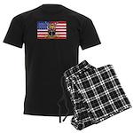 U.S.A. Rhodesia Flag Men's Dark Pajamas