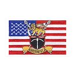 U.S.A. Rhodesia Flag 35x21 Wall Decal