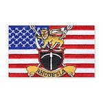 U.S.A. Rhodesia Flag 20x12 Wall Decal