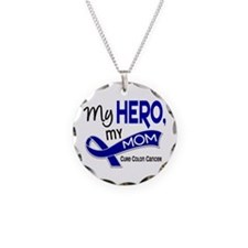 My Hero Colon Cancer Necklace Circle Charm