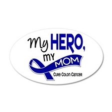My Hero Colon Cancer 22x14 Oval Wall Peel