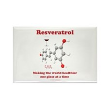 Resveratrol Rectangle Magnet