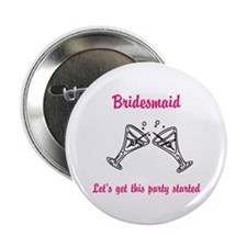 """Bridesmaid 2.25"""" Button"""