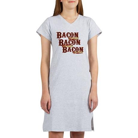 Bacon, Bacon, Bacon Women's Nightshirt