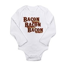 Bacon, Bacon, Bacon Long Sleeve Infant Bodysuit