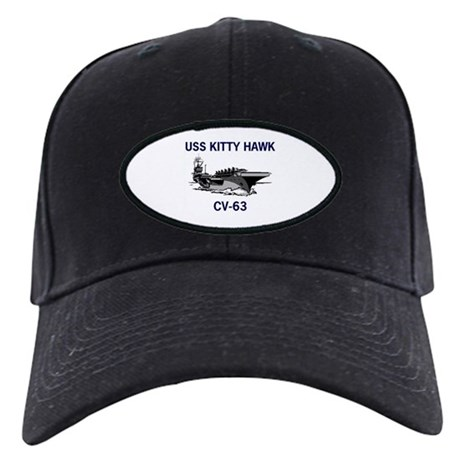 USS KITTY HAWK Black Cap