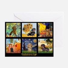 Dachshund Famous Art 1 Greeting Cards (Pk of 20)
