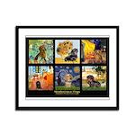 Dachshund Famous Art 1 Framed Panel Print