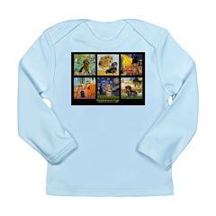 Dachshund Famous Art 1 Long Sleeve Infant T-Shirt