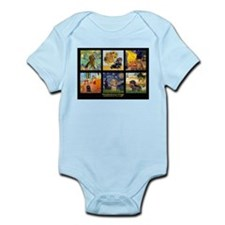 Dachshund Famous Art 1 Infant Bodysuit