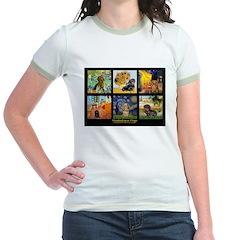 Dachshund Famous Art 1 Jr. Ringer T-Shirt