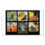Dachshund Famous Art 1 Sticker (Rectangle)