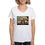 Dachshund Famous Art 1 Women's V-Neck T-Shirt