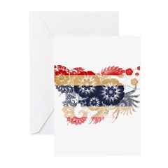 Thailand Flag Greeting Cards (Pk of 10)