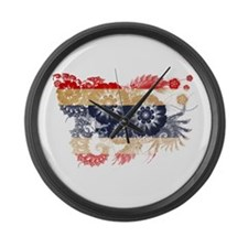 Thailand Flag Large Wall Clock