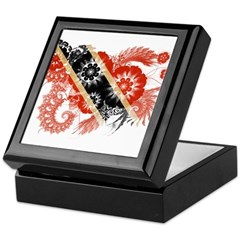 Trinidad and Tobago Flag Keepsake Box