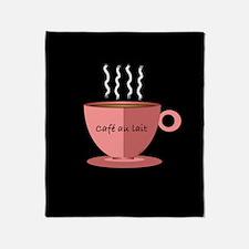 Cafe au Lait Throw Blanket