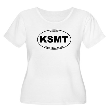 Kismet Fire Island Women's Plus Size Scoop Neck T-
