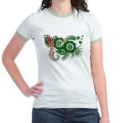 Turkmenistan Flag Jr. Ringer T-Shirt