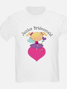 Junior Bridesmaid Fairy Wedding T-Shirt