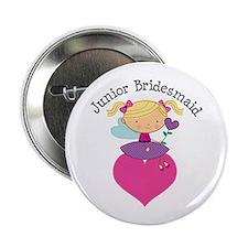 "Junior Bridesmaid Fairy Wedding 2.25"" Button"