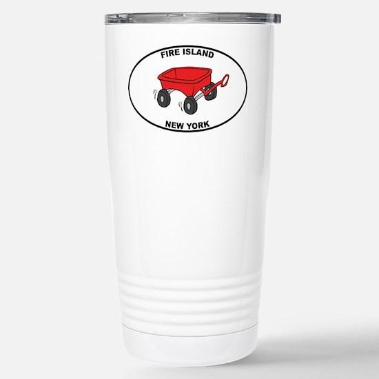 Fire Island Wagon Stainless Steel Travel Mug