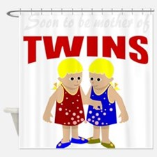 Cute twins maternity Shower Curtain